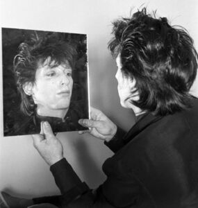 Marcia Resnick, 'Johnny Thunders - Mirror', 1970-1980