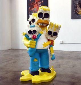 """GONDEKDRAWS """"Matt Gondek"""", 'Simpsons Nuclear Family 4ft Statue', 2018"""