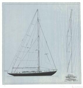 Sparkman & Stephens, 'New York 32: Sail Plan, 1947', 1980