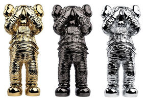 KAWS, 'Space Holiday Companion Gold, Black and Silver Set', 2020