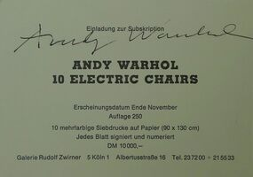 Andy Warhol, '10 Electric Chairs', 1971