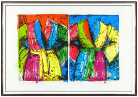 Jim Dine, 'Jim Dine Original Etching Lithograph Florida Bathrobes Robe Large Signed Artwork', 1986