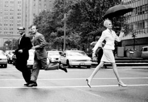 Arthur Elgort, 'Nadja Crossing Park Ave., New York, American Vogue', 1995