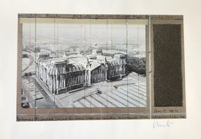 Christo, 'Wrapped Reichstag, Project for Berlin', 1994