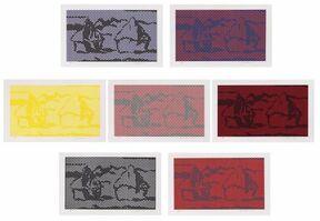 Roy Lichtenstein, 'HAYSTACK SERIES #1 TO 7', 1969