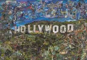 Vik Muniz, 'Postcards from Nowhere: Hollywood', 2014