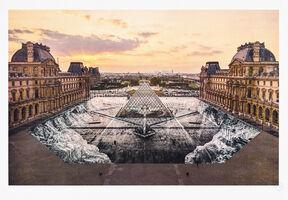 JR, 'JR au Louvre, 29 mars 2019, 19h01', 2019