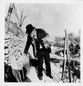 Ker Xavier Roussel, 'Paul Cézanne on the Hill of Les Lauves ', 1906