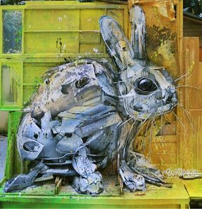 Bordalo II, 'Rabbit', ca. 2014