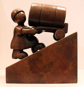 Tom Otterness, 'Woman with Oil Barrel', 2007