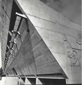 Lucien Hervé, 'Le Corbusier building in Chandigar, India', 1950's