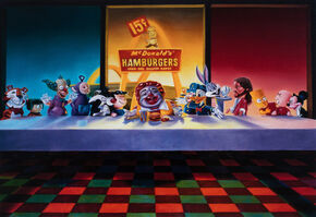 Ron English, 'Last Supper with MC Supersized', 2008
