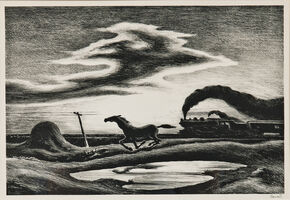 Thomas Hart Benton, 'The Race, alternatively titled Homeward Bound', 1942