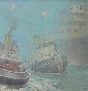"""Harold Von Schmidt, 'An Illustration from """"Tugboat Annie""""'"""