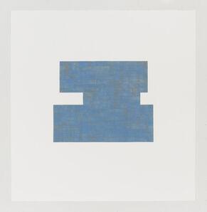 Julia Fish, 'Study for Threshold — Plan, North [ blue with orange ] # 2', 2017