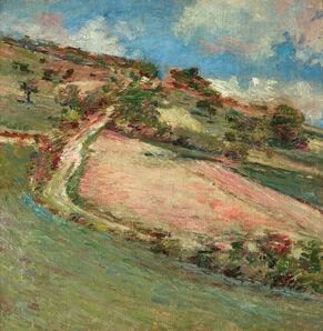 Theodore Robinson, 'Hillside, Springtime, Giverny', ca. 1880s