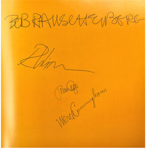 """Robert Rauschenberg, '""""Poets of the Cities New York and San Francisco 1950-1965"""", Signed by Robert Rauschenberg, John Cage, Merce Cunningham', 1974"""