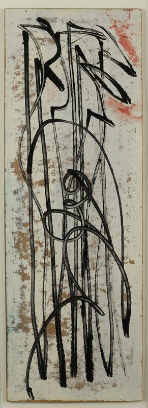 Barbara Hepworth, 'Figures', 1957, Painting, Oil on gesso-prepared board, New Art Centre