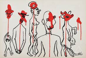 Alexander Calder, 'Les Gueules Degoulinantes (Circus 4) from Derrière le Miroir', 1966