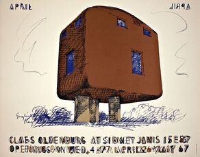 Claes Oldenburg at Sidney Janis 15 E 57 Opening, May 1967 Gallery Poster