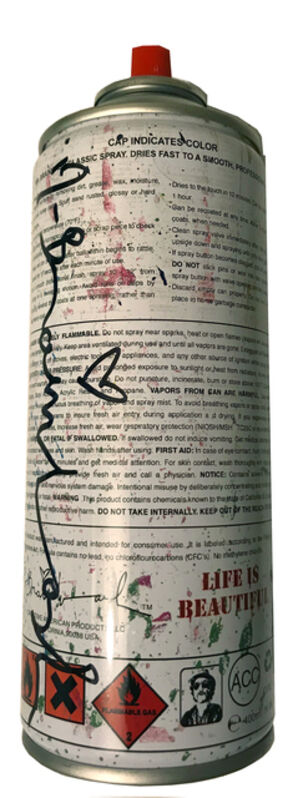 Mr. Brainwash, 'Classic Spray Can  (Cyan)', 2013, Sculpture, Limited Edition painted empty iron spray can. Hand signed and numbered by the artist - with each design unique, End to End Gallery