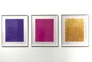 Yves Klein, 'Triptych  : Blue Monochrome ikB 067 (1959) + Monogold 8 (1962) + Monopink 19 (1962)', 2020