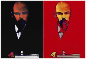 Andy Warhol, 'Black Lenin (II.402) & Red Lenin (II.403)', 1987