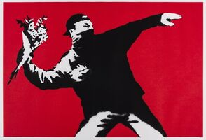 Banksy, 'Love is in the Air (Flower Thrower)', 2003