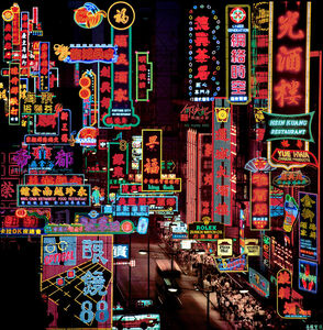 Keith Macgregor, ''Nathan Road, Kowloon Neon Fantasy' Hong Kong', Image taken 1986 / Artwork made 2018