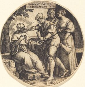 Georg Pencz, 'To Give Drink to the Thirsty'