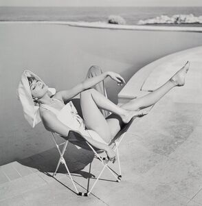 Georges Dambier, 'Marie-Hélène Arnaud at the Hotel Eden Roc, Cap d'Antibes', 1957