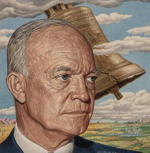 Ernest Hamlin Baker, 'Eisenhower Liberty Bell , Time cover  - Journalist Portraiture, Time magazine cover, July 4, 1955 ( alternate)', 1955