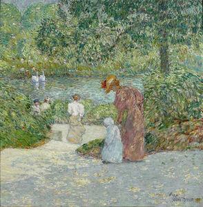 Childe Hassam, 'Descending the Steps, Central Park', 1895