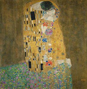 Gustav Klimt, 'Der Kuss (The Kiss)', 1907-1908