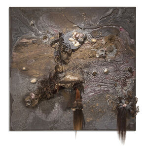 Steve Mark, 'Darwin's Afterlife ( mixed media on canvas)', 2011