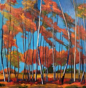 Jenn Hallgren, 'Windy Birch Patch', 2019