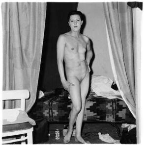 Diane Arbus, 'Naked Man Being a Woman, NYC', 1968