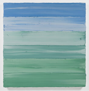 Jason Martin, 'Untitled (Mixed White/ Emerald Green/ Royal Blue Deep) I ', 2018