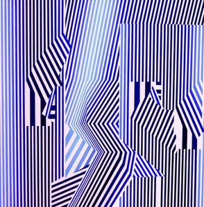 Cristina Ghetti, ''Blue Sysmo' Acrylic on Canvas Kinetic Painting', 2020