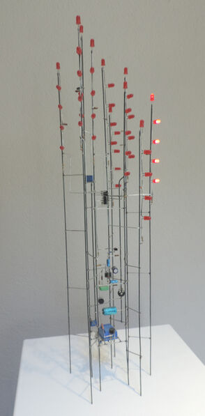 Peter Vogel, 'Rote Lichtreaktionen', 2005