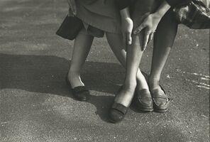 Saul Leiter, 'Kathy and Gloria (variant)', ca. 1949