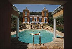 Slim Aarons, 'Pool At El Cuarton', 1971