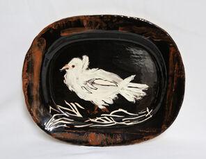 Colombe sur lit de paille (Dove on a Straw Bed)