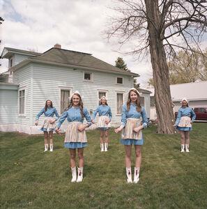 Naomi Harris, 'Dutch Cheerleaders, Tulip Festival, Orange City, Iowa', 2014