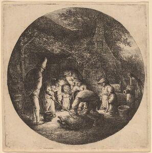 Adriaen van Ostade, 'Pig Slaughterers', probably 1642