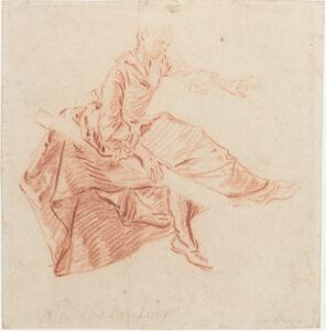 Nicolas Lancret, 'Lady Seated on a See-Saw'