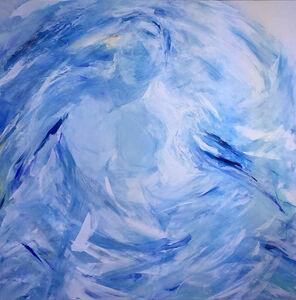 Tanja Bergman, 'Peregrine Falcon, Human, Wind and Clouds (Bird's Nature)', 2015