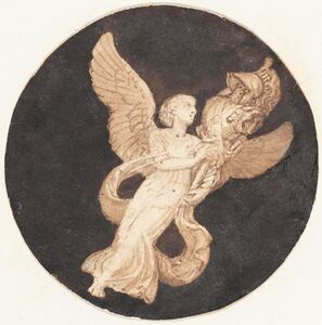 """Thomas Stothard, 'Vignette for a Title Page: """"Winged Victory""""'"""