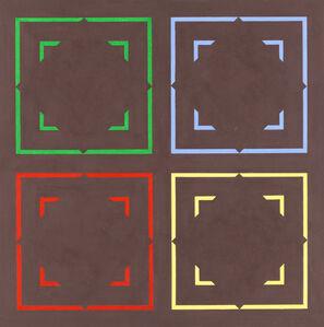 Mario Ballocco, 'Effetti di assimilazione cromatica di figure virtuali', 1974