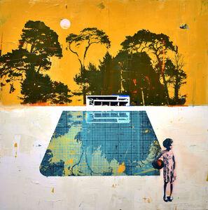 Dan Parry Jones, 'Pool with Pink Moon', 2019